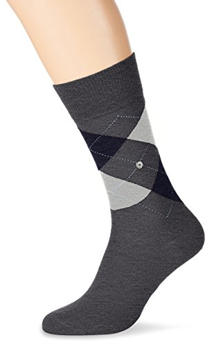 Burlington Herren Socken Edinburgh, Grau (Rock-Limelight 3194), 40/46