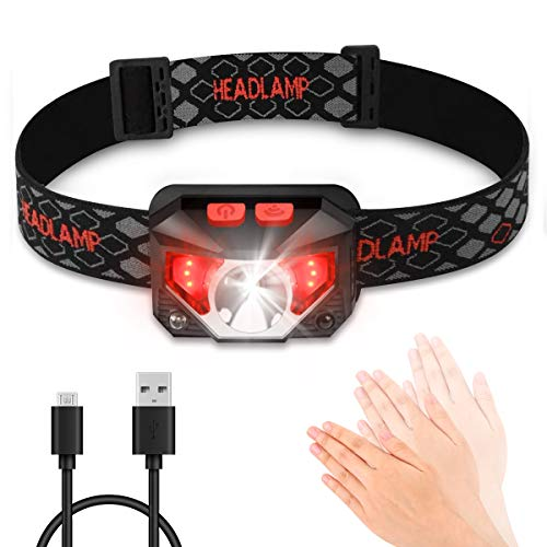 Stirnlampe LED, Blusmart Kopflampe USB Stirnlampen Aufladbar Joggen Led-stirnlampe Wiederaufladbare Laufen Wasserdicht für Nachtlese Camping Angeln