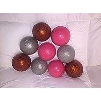 sports-24 - Pelota de críquet Brillante de Cobre Rosa y Plata para Adultos (Juego de 6 Unidades)