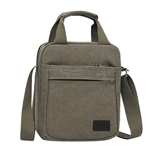 Moserian Herren Fashion Canvas Solid Color Totes Business Schultertasche Messenger Taschen
