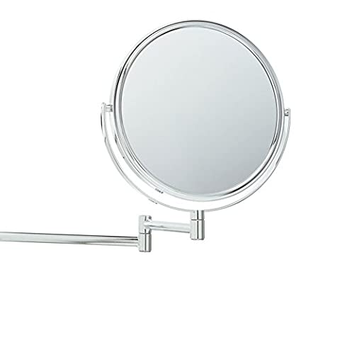 8Inch Two Sides Cosmetic Wall Mirror with Adjustable Magnification Folding 360Degrees Rotation Simple and Modern Style