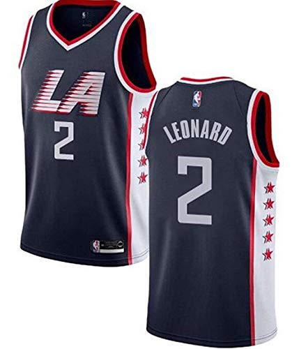J-Met Herren-Basketballtrikots, NBA Los Angeles Clippers #2 Kawhi Leonard Sommerwesten Oberteile Ärmellose T-Shirts (Größe: S-XXL)
