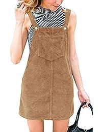 5d89c8551a38e9 Ybenlover Damen Latzkleid Herbst Kleider Trägerkleid A Linie Minikleid  Overall