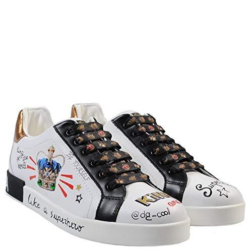 Dolce & Gabbana Kinder Lizenzdruck Trainer 31 White