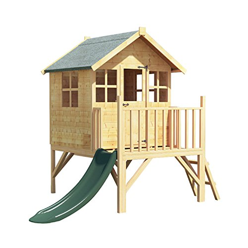 BillyOh Bunny Max Tower Childrens Wooden Playhouse - Including Slide 4x4