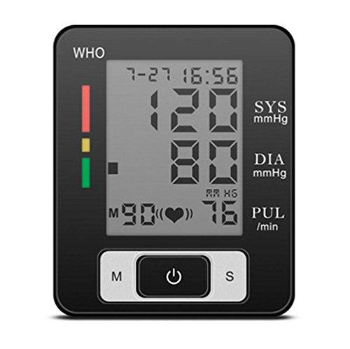 HRRH Handgelenk-Blutdruckmessgerät 90 Duo Group Memory-Blutdruck Warnung-Arrhythmie Blutdruckmessgerät Intelligentes elektronisches LCD-Display exakt für älteren Blutdruckmessgerät -