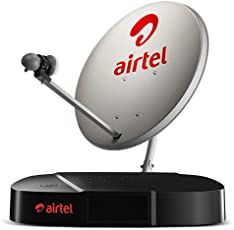 Airtel Digital TV HD Set Top Box With 1 Month 199 My Plan Hd Pack With Recording