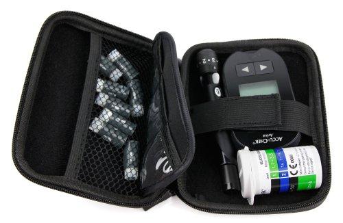 DURAGADGET Estuche Rígido Para El Kit De Control De Insulina Y Colesterol - Perfecto Para Transportar Con Mini Mosquetón