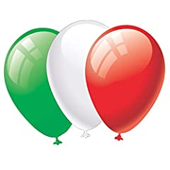 Idea Regalo - Givi Italia Palloncini Tricolore Medium pz.25