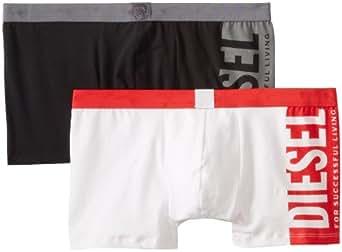 Diesel Shawn-2Pk - Boxer pack 2 for men, blanco/negro, size S