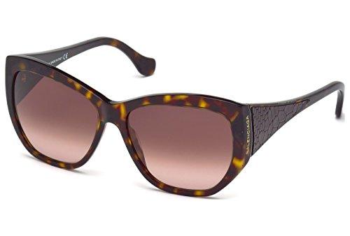 Balenciaga BA0022 C58 52T (dark havana / gradient bordeaux) Sonnenbrillen