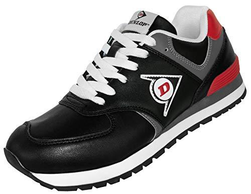 Dunlop Arbeitsschuhe OD 1 Berufs-Schuhe ohne Stahlkappe EN 347, rutschfeste Sohle, Schwarz-Rot, Gr. 42