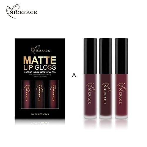 3 nouveaux kits de brillant à lèvres cosmétiques cosmétique sexy imperméable mat rouge à lèvres trada makeup levre rouge a levre mat foncé rouga a levre