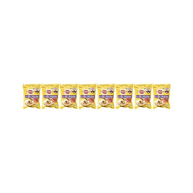 PEDIGREE Son Os à Mâcher Mini - Récompenses pour Petit Chien, 32 Friandises (8 Sachets de 4 Os de 180g)