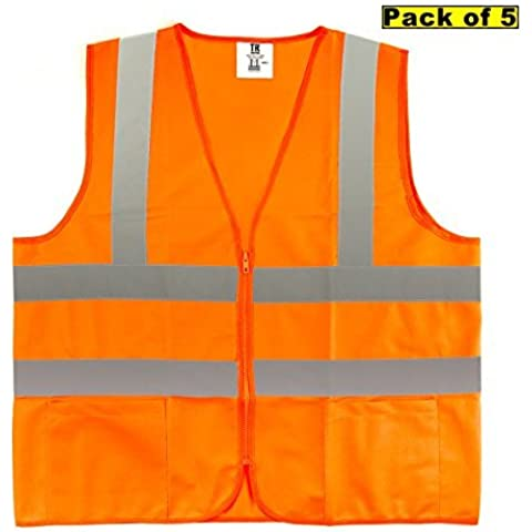 TR Industrial TR88050-5PK ANSI Compliant Safety Vests