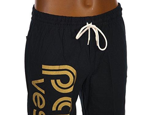 Panzeri Unito h, colore: nero/oro, jersey pant-Pantaloni tuta - nero