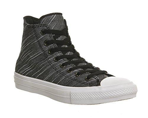 Converse All Star II Knit Hi chaussures noir blanc