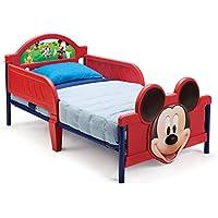 Delta Children - BB86681MM - Mickey - Lit avec Pieds 3D - Rouge