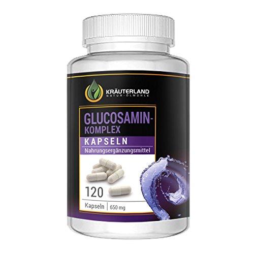 Glucosamin Komplex Kapseln • 120 Kapseln à 400mg Glucosamin + à 250mg MSM • in wiederverschließbaren Dosen • sofortiger Versand