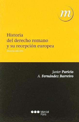 Historia de Derecho romano y su recepción europea