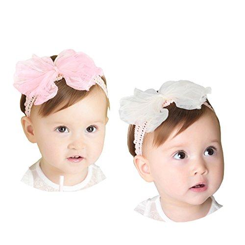 Stirnbänder Baby Mädchen Kids Turban Haarband Stirnband Kopfband Baby schmuck Babyschmuck Babygeschenke & Taufe ()