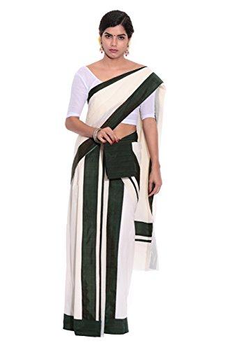 Fashionkiosks Kerala Cotton Kasavu Set Mundu with Blouse