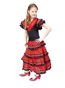la senorita spanische flamenco kleid kost m f r m dchen. Black Bedroom Furniture Sets. Home Design Ideas