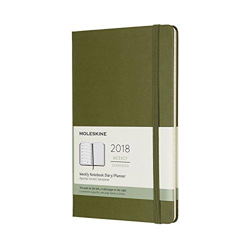 2018 Moleskine Elm Green Large Weekly Notebook Diary 12 Months Hard