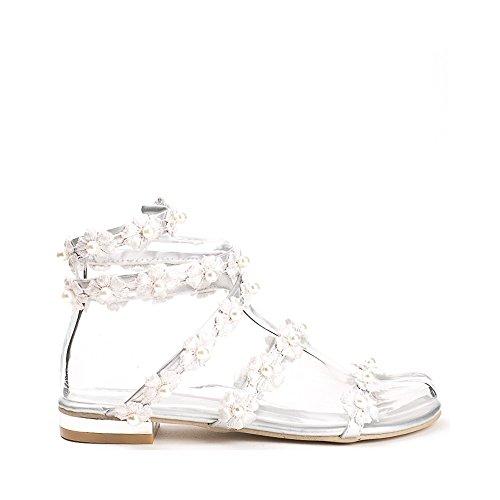 Ideal Shoes ,  Sandali donna Argento