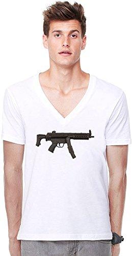 Submachine Gun Deep V-neck T-shirt XX-Large -
