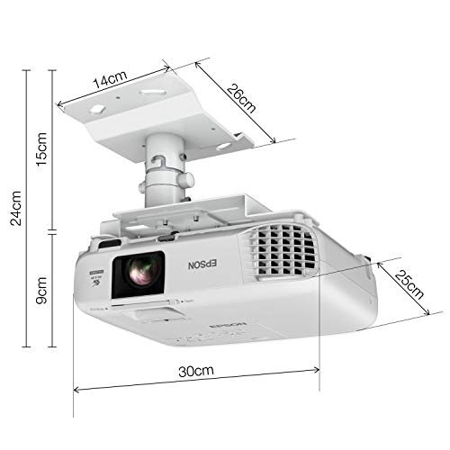 41uQKiU64qL. SS500  - Epson EB-U05 3LCD, Full HD, 3400 Lumens, 300 Inch Display, Gaming & Home Cinema Projector - White