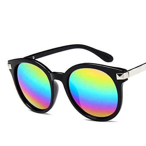 GJYANJING Sonnenbrille Neue Ankunft Runde Sonnenbrille Retro Männer Frauen Sonnenbrille Vintage Beschichtung Gespiegelt Sonnenbrille Uv400