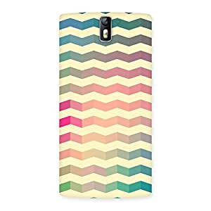 Cute Seamless ZigZag Multicolor Back Case Cover for One Plus One