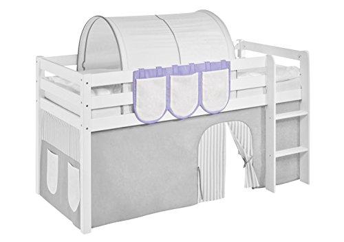 Hängetaschen Lila Beige - für Hochbett, Spielbett und Etagenbett