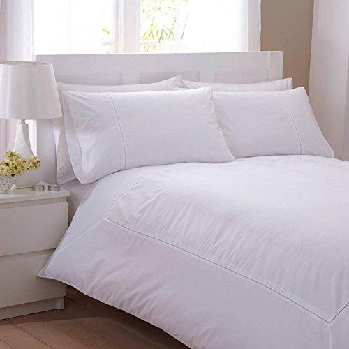 Charlotte Thomas Swiscot textiles Lt Laura - Juego de funda nórdica y funda de almohada (para cama de matrimonio), color blanco