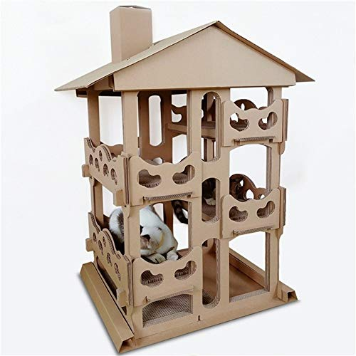 WSJF Katzenturm,Katze Indoor Aktivität Wohnung Eigentumswohnung Möbel Kratzbaum for Kätzchen Pet House Play Villa 4. Stock for Kleine Und Mittlere Katzen - Stöcke Möbel