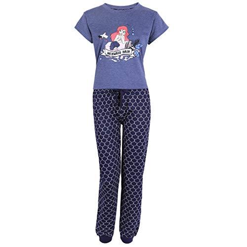 Blauer Pyjama Ariel die Meerjungfrau Disney - L