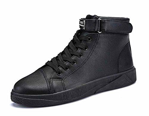 Männer Fashion Flats Schuhe 2018 Frühjahr Neue Casual Skateboard Schuhe High Top Laufschuhe ( Color : Black , Size : 44 ) (Flats Guess Schuhe)