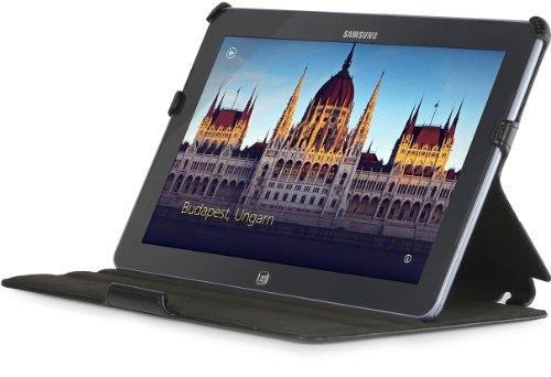 StilGut UltraSlim Case Tasche mit Stand- und Präsentationsfunktion passend für Samsung Ativ Smart PC 500 T Schwarz