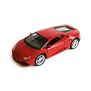 Anik-Shop Lamborghini Huracan LP 610-4 Modellauto 4 Farben Metall Modell Auto Spielzeugauto 27 (Rot)