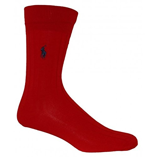 polo-ralph-lauren-homme-sck-egyptian-cotton-logo-socks-rouge-one-size