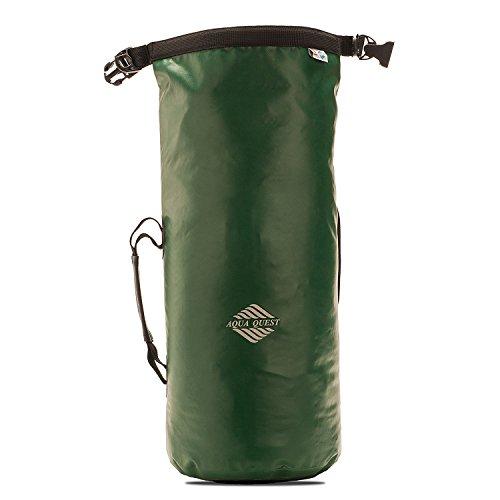 10L Wasserdichter Rucksack Trockentasche - Aqua Quest Mariner 10 - Kleine Kajak- und Boot Tasche - Verstellbar für Männer, Frauen, Jungen und Mädchen - Grün oder Schwarz Grün