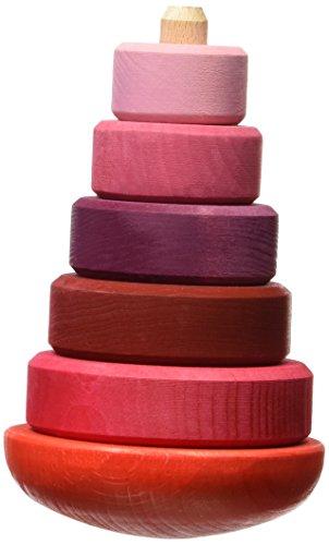 Los juguetes de los hermanos Grimm Torre Wobbly, de color rosa