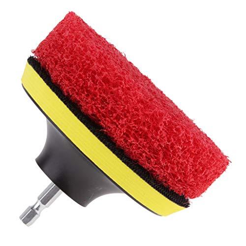 Homyl Bohrbürste Power Scrubber Borstenbohrer Bürste für Badezimmer Fliesen Glas Teppich - rot -