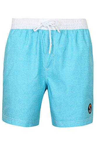 Tokyo Laundry Mens Cornwallis Faded Striped Lightweight Microfibre Swim Shorts