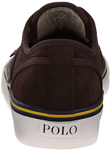Polo Ralph Lauren Morray Nubuck Fashion Sneaker Dark Brown