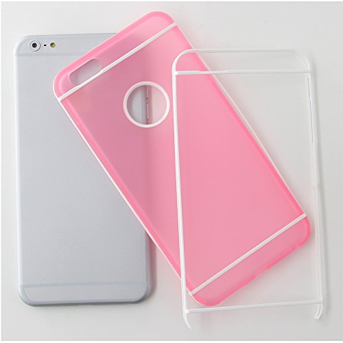 BELK Étui iPhone 6 11,9 cm -wonderful Bicolourable Series Coque en TPU Fine avec garantie à vie  - Gris - rose