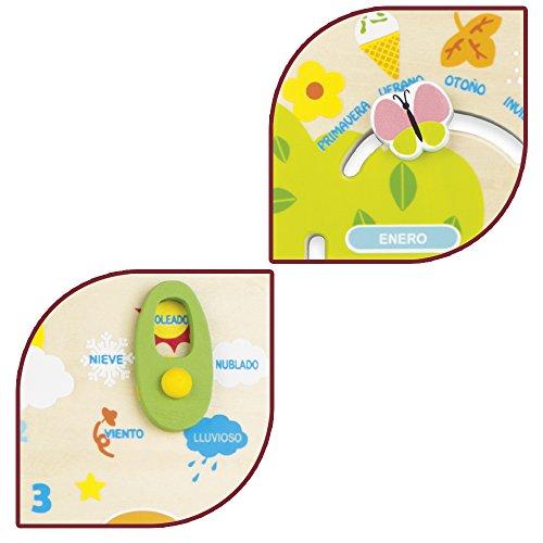 Imagen para ColorBaby - Juego educativo de madera, calendario diseño búhos (42737)
