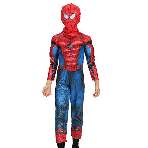Cosplay Kleidung Kind The Amazing Spider-Man Anime Kostüm Siamese Muscle Performance Kostüm Steel Nano Battle Suit Strumpfhose Weihnachten Halloween Kostüm B-L