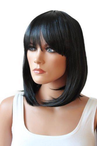 PRETTYSHOP Unisexe perruque Bob cheveux courts fibre synthétique résistant à la chaleur Noir #1 WB2